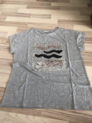 Zara  T-Shirt Grau mit Details  *neu