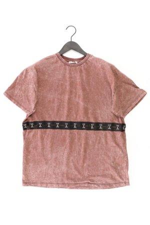 Zara T-Shirt Größe L Kurzarm braun aus Baumwolle