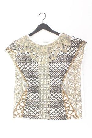 Zara T-Shirt Größe M Kurzarm mehrfarbig aus Polyester