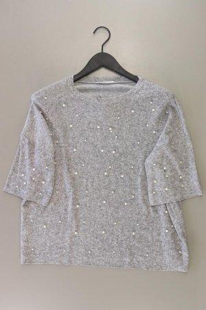 Zara T-Shirt Größe S Kurzarm grau aus Polyester