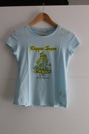 Zara T-Shirt hellblau mit Print Gr. S