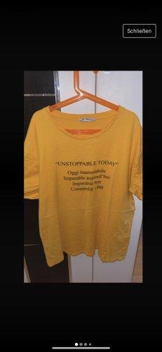 Zara T-Shirt in Senf/Gelb