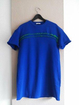 Zara T-Shirt-Kleid in blau aus 100% Baumwolle, Größe S oversize, neu