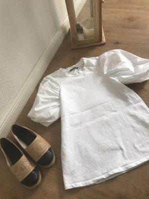 Zara T-Shirt mit Ballon Ärmeln