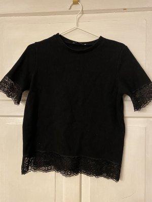 Zara T-Shirt mit Spitze