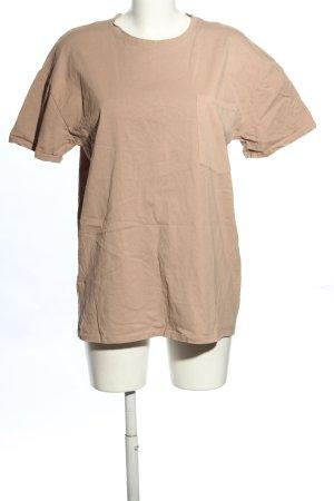 Zara T-Shirt nude Casual-Look