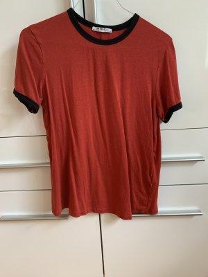 Zara Top batik noir-rouge