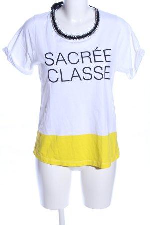 Zara T-Shirt Schriftzug gedruckt Casual-Look