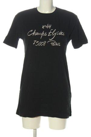 Zara T-Shirt schwarz Schriftzug gedruckt Casual-Look