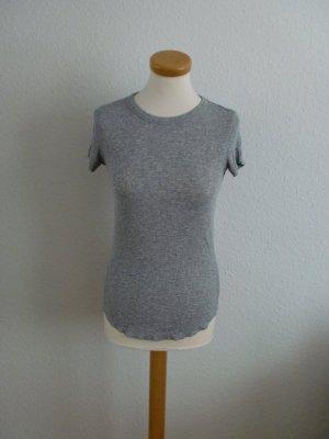 Zara T-Shirt Shirt grau gerippt neu