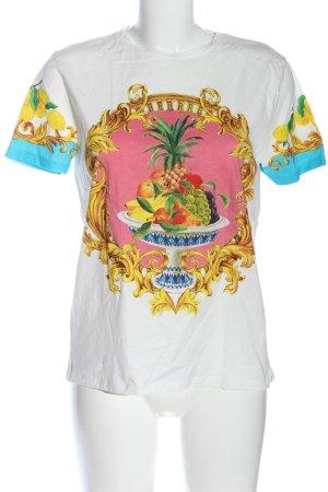 Zara T-Shirt weiß Motivdruck Casual-Look