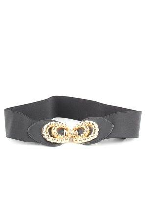 Zara Taillengürtel schwarz-goldfarben Casual-Look