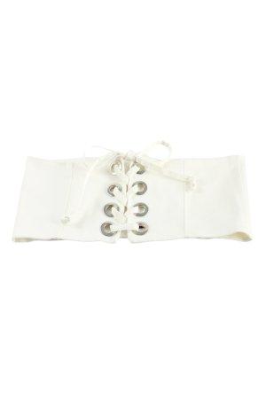 Zara Waist Belt white casual look