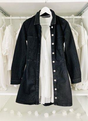 Zara taillierter jeansmantel