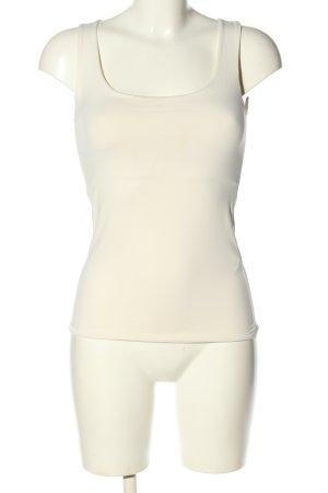 Zara Camiseta sin mangas blanco puro look casual