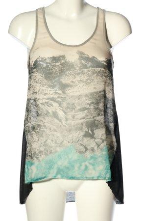 Zara Tanktop Motivdruck Casual-Look