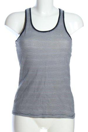 Zara Tanktop schwarz-weiß Streifenmuster Casual-Look