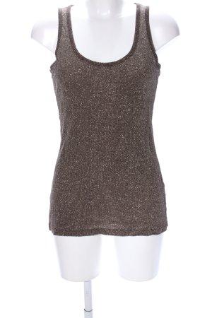 Zara Camiseta sin mangas marrón look casual