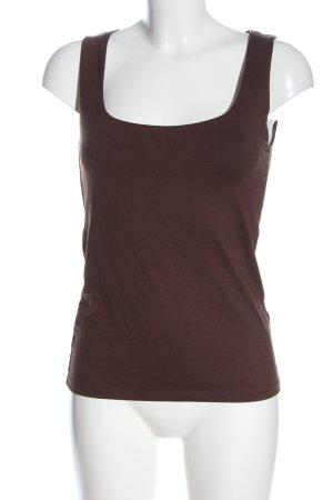Zara Tanktop braun Casual-Look