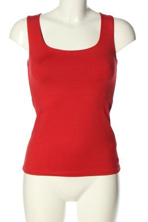 Zara Camiseta sin mangas rojo look casual