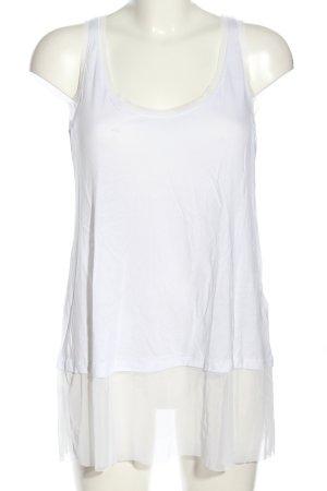 Zara Tanktop wit casual uitstraling