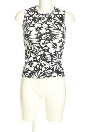 Zara Canotta nero-bianco stampa integrale stile casual