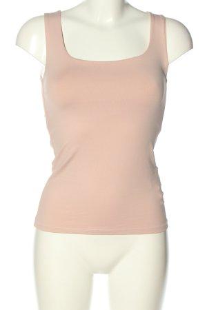 Zara Camiseta sin mangas crema look casual