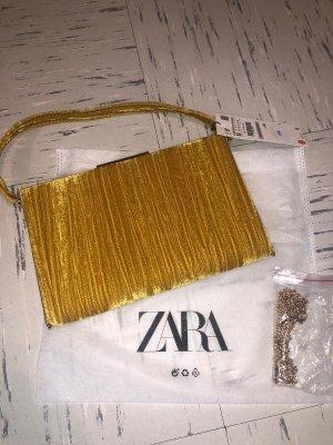 Zara Clutch zandig bruin
