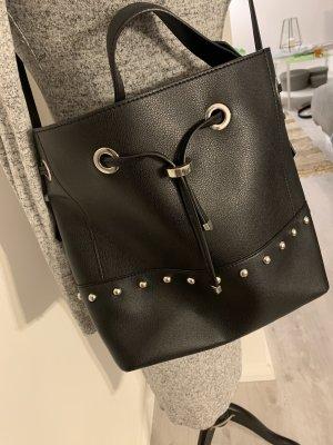 Zara Shopper zwart-zilver