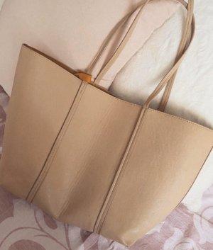 Zara Tasche Shopper Beige