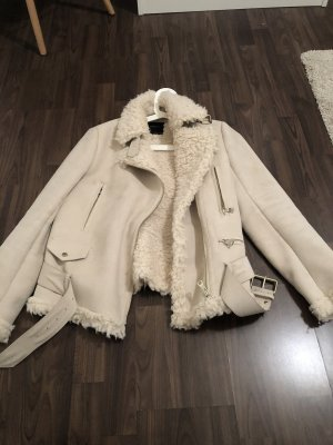 Zara Biker Jacket natural white