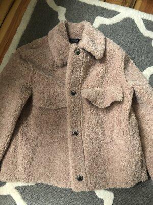 Zara Teddy Oberhemd überhemd Brust Taschen Blogger neu