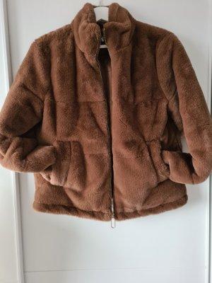 Zara Giacca in eco pelliccia marrone chiaro
