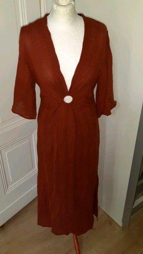 Zara Terracotta Kleid mit Schnalle Gr. M neu