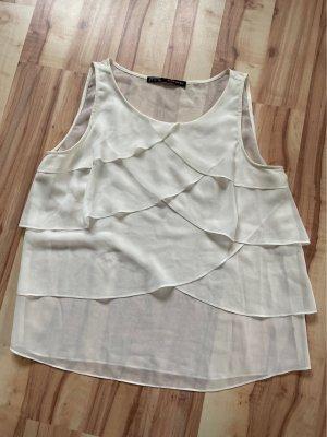 Zara Basic Top col bénitier blanc