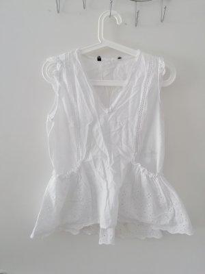 Zara Top de ganchillo blanco