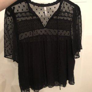 Zara Top koszulowy czarny