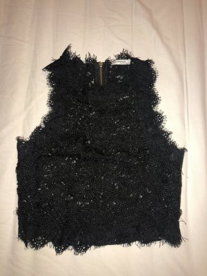 Zara Top a balze nero