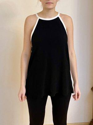 Zara Woman Top in seta nero-bianco