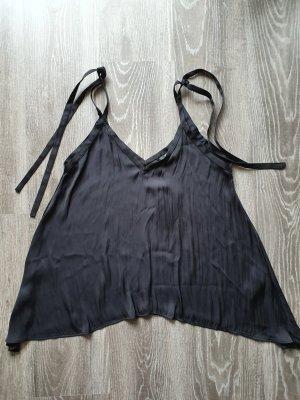 Zara Cowl-Neck Top black