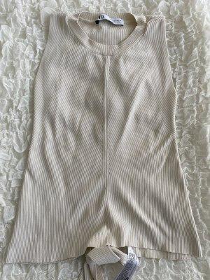 Zara Blusa sin espalda crema