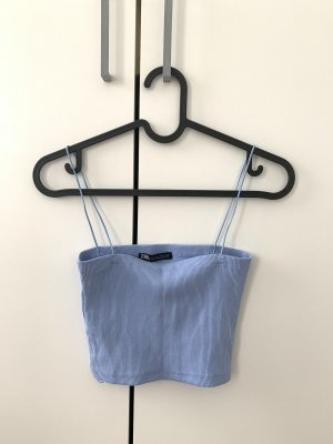 Zara Haut à fines bretelles bleu azur