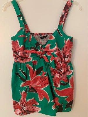 Zara Top tipo bustier rojo-verde