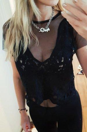 Zara Haut en dentelle noir