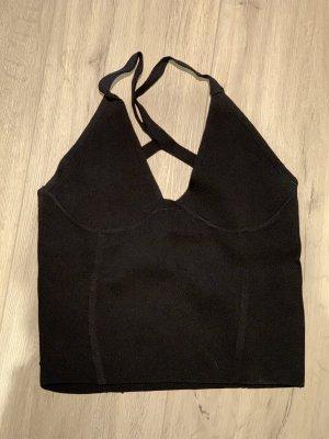 Zara Knit Cut Out Top black