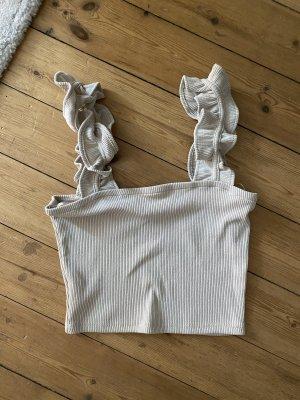 Zara Top Beige Bustier Bralette Bluse