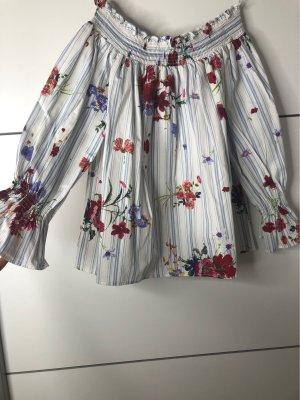 Zara Off-The-Shoulder Top multicolored