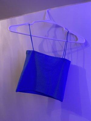 Zara Basic topje neon blauw