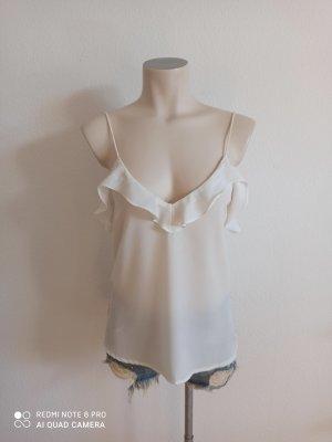Zara Frill Top white