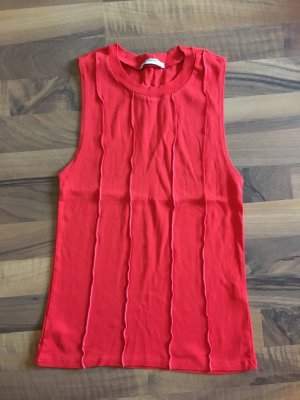 Zara Frill Top red